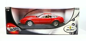 【送料無料】模型車 スポーツカー ホットホイールフェラーリ118 hot wheels ferrari 365 gtb4