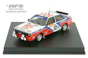 【送料無料】模型車 スポーツカー アウディクワトロラリーサンレモaudi quattro r6 rally san remo 1982 cinottoradaelli 143 trofeu 1616