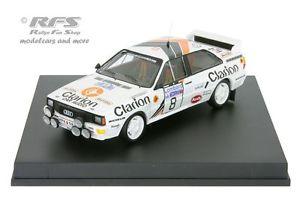 【送料無料】模型車 スポーツカー アウディクワトロクラリオンラリーaudi quattro a2clarionrac rally 1985 eklund 143 trofeu 1617