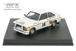 【送料無料】模型車 スポーツカー フォードエスコートラリーモンテカルロford escort rs 1800 mk ii tarmac rally monte carlo 1976 mkinen 143 trofeu
