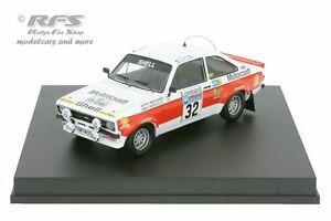 【送料無料】模型車 スポーツカー フォードエスコートラリーford escort rs 1800 mk ii rac rally 1976waldegard 143 trofeu 1023