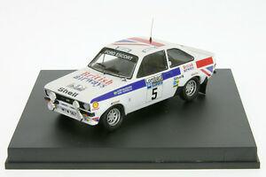 【送料無料】模型車 スポーツカー 143 tr1011フォードエスコートrs mk ii waldegaardrac143 tr1011 ford escort rs mk ii waldegaard rally rac