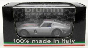 【送料無料】模型車 スポーツカー モデルスケールフェラーリシルバーbrumm models 143 scale r50804 ferrari 250 gto 02 giugno 1963silver