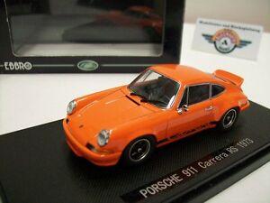 【送料無料】模型車 スポーツカー ポルシェカレラオレンジporsche 911 carrera rs, orange, 1973, ebbro 143, ovp
