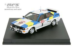 【送料無料】模型車 スポーツカー アウディクワトロラリーサンレモaudi quattro rally san remo 1982 blomqvistcederberg 143 trofeu 1606