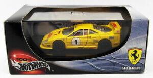 【送料無料】模型車 スポーツカー ホット143スケールモデル25710ferrari f40レーシングhot wheels 143 scale model car 25710ferrari f40 racingyellow