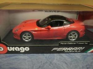 【送料無料】模型車 スポーツカー bburago 118フェラーリカリフォルニアトップtbburago 118 ferrari california tclosed topred