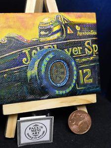 【送料無料】模型車 スポーツカー アイルトンセナミニチュアキャンバスayrton hand senna jps painted lotus miniature painting senna hand painted on canvas with easle, シンシュウシンマチ:4149343f --- mail.ciencianet.com.ar