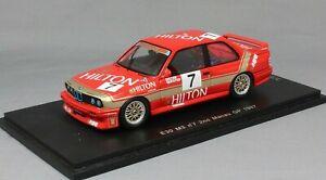【送料無料】模型車 スポーツカー スパークマカオギアレースディーターspark bmw m3 e30 macau guia race 1987 dieter quester sa033 143 ltd ed 300