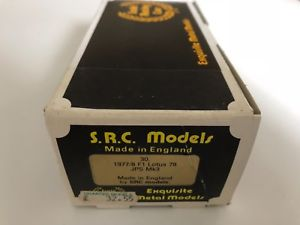 【送料無料】模型車 スポーツカー モデルキットロータスsrc models 143 kit  19778 f1 lotus 78 jps mk3  src ref 30
