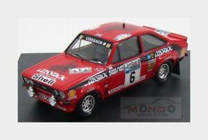 【送料無料】模型車 スポーツカー フォードエスコート#ラリークラークペグtfford english escort mkii 6 winner rac rally 1976 clark pegg trofeu 143 tf1010