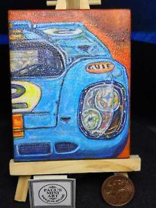 【送料無料】模型車 canvas スポーツカー ガルフポルシェミニチュアキャンバスgulf porsche on 917 with miniature painting hand painted on canvas with easle, 自転車通販チャレンジ21:bb3c265b --- mail.ciencianet.com.ar