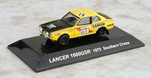 【送料無料】模型車 スポーツカー ラリーカーランサーサザンクロスイエロー164 cms rally car ss17 mitsubishi lancer 1600gsr 1975 southern cross yellow