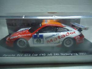 【送料無料】模型車 スポーツカー スパークポルシェグアテマラカップ#ニュルブルクリンクrare spark 143 porsche 911 gt3 cup 40 jvo 24h nrburgring 2007 limited 300 pc