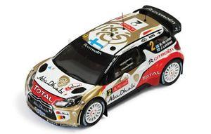 【送料無料】模型車 スポーツカー 143シトロエンds3wrcアブダビポルトガル2013mhirvonen143 citroen ds3 wrc total abu dhabi rally portugal 2013 mhirvonen