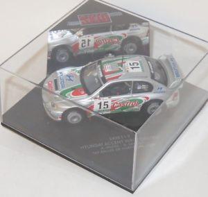 【送料無料】模型車 スポーツカー 143ヒュンダイアクセントwrcカストロールラリーポルトガル2000amcraedsenior143 hyundai accent wrc castrol rallye portugal 2000 amcrae dsenior