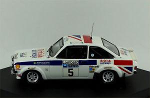 【送料無料】模型車 スポーツカー フォードエスコートラリーtrofeu ford escort mkii rs1800 1st rac rally 1977 waldegaard 1011 boxed