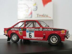 【送料無料】模型車 スポーツカー フォードエスコートラリースケールクラークペグtrofeu, ref 1010, ford escort mk ii, 1st rac rally 1976, 143 scale, clark pegg
