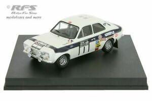【送料無料】模型車 スポーツカー フォードエスコートラリーロジャークラークford escort rs 1600 mk i rac rally 1973 roger clark 143 trofeu 0539