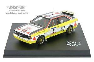 【送料無料】模型車 スポーツカー アウディクワトロツールドコルスaudi quattro a2rallye quattro a2rallye tour de tour corse 1984 blomquist 143 trofeu 1619, イベントショップ パンプキン:83458e29 --- sunward.msk.ru