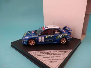 【送料無料】模型車 スポーツカー スバルimpreza wrc3saturnus 1999rare 143 trofeu rfs03subaru impreza wrc 3 deadrally saturnus 1999rare 143 trofeu rfs03