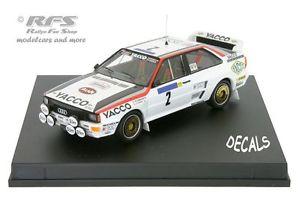 【送料無料】模型車 スポーツカー アウディクワトロツアードフランスaudi quattroyacco tour de france auto 1984 darniche 143 trofeu 1618