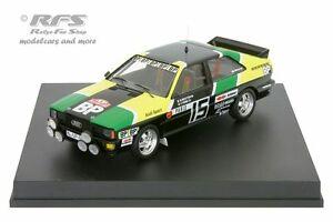 【送料無料】模型車 スポーツカー アウディクワトロラリーモンテカルロムートンaudi quattrobprally monte carlo 1981 mouton 143 trofeu 1614
