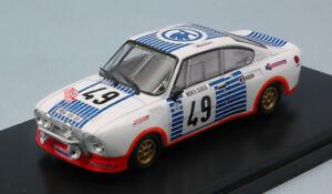 【送料無料】模型車 スポーツカー シュコダルピー#モンテカルロモデルskoda 130rs 49 12th monte carlo 1977 v blahanal hlavka 143 model abrex