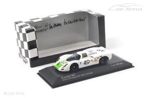 【送料無料】模型車 スポーツカー ポルシェセブリングハンスヘルマンporsche 907k winner 12h sebring 1968original signed hans herrmannminic
