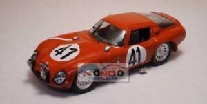 【送料無料】模型車 スポーツカー アルファロメオルマンモデルalfa romeo tz2 1965 le mans 143 best be9174 model