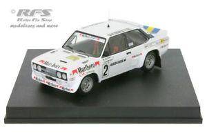 【送料無料】模型車 スポーツカー フィアットアバルトスウェーデンラリーラリースウェーデンfiat 131 abarth swedish rally rally sweden 1979 markku alen 143 trofeu 1430