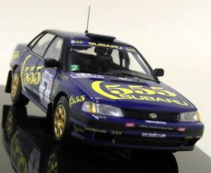 【送料無料】模型車 スポーツカー ネットワークスケールスバルレガシィニュージーランドラリーマクレーモデルカーixo 143 scale rac216 subaru legacy rs zealand rally 91 c mcrae model car