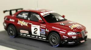 【送料無料】模型車 スポーツカー スパークスケールアルファロメオ#モデルカーspark 143 scale s0464 alfa romeo 156 2 5th etcc 04 giovanardi resin model car
