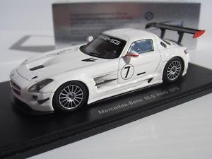【送料無料】模型車 スポーツカー スパークスケールメルセデスホワイトベンツグアテマラ#スポーツカーspark, 143 scale, mercedesbenz sls amg gt3 7 in white, sports car, s1024