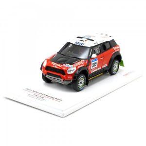 【送料無料】模型車 スポーツカー モデルミニダカールラリーtsm model 143 mini countryman dakar rally 2011