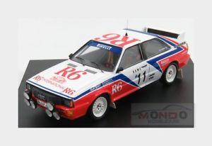 【送料無料】模型車 スポーツカー アウディquattro11montecarlo1982mcinotto eradaelli trofeu 143 tr1628 maudi quattro 11 rally montecarlo 1982 m cinotto e radaell