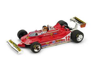 【送料無料】模型車 スポーツカー フェラーリフランスジルヴィルヌーヴサーキットパイロットferrari 312 t4 gp france 1979 gilles villeneuve 12 pilot 143 r512ch brumm