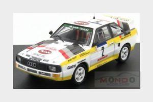 【送料無料】模型車 スポーツカー アウディクワトロ#ラリーツールドコルスaudi quattro 2 rally tour de corse 1984 wrohrl geistdorfer trofeu 143 tr2801