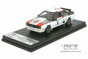 【送料無料】模型車 スポーツカー アウディクワトロラリーポルトガルaudi quattro rally portugal 1983 blomqvistcederberg 143 trofeu rral 053
