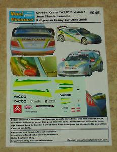 【送料無料】模型車 スポーツカー シトロエンクサラエッセイシュルオルヌdcals 143e citron xsara wrc div 1 jc lemoine rallycross essay sur orne 2008