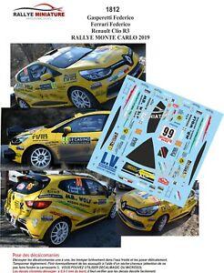 【送料無料】模型車 スポーツカー デカールルノークリオラリーモンテカルロdecals 143 ref 1812 renault clio r3 gasperetti rally monte carlo wrc 2019
