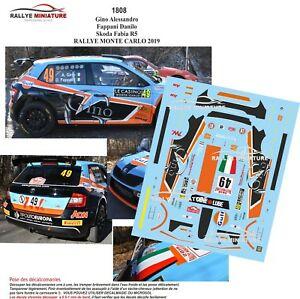 【送料無料】模型車 スポーツカー デカールシュコダファビアラリーモンテカルロラリーdecals 143 ref 1808 skoda fabia r5 rally monte carlo gino 2019 wrc rally