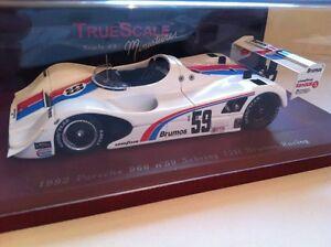 【送料無料】模型車 スポーツカー truescaleミニチュア114304 1992ポルシェ96659セブリング12brumosレーシングtruescale miniatures 114304 1992 porsche 966 59 sebring 12hr brumos r