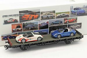 【送料無料】模型車 スポーツカー ワゴンポルシェスパイダータルガポルシェスポーツカーセットwagon with porsche 918 spyder amp; 911 targa 4s 70 years porsche sports car set