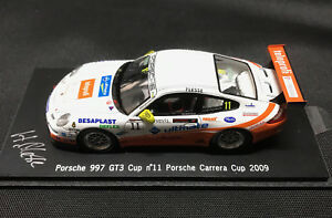 【送料無料】模型車 スポーツカー ポルシェグアテマラカップカレラカップサインporsche 911 gt3 cup no 11 carrera cup 2009 pz low plesse autographed 143