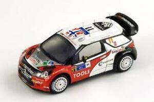 【送料無料】模型車 スポーツカー シトロエン#メキシコラリースパークモデルcitroen ds3 wrc 11 4th mexico rally 2011 143 spark s3304 model