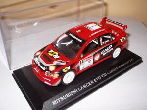 【送料無料】模型車 スポーツカー mネットワークラリーポルトガルランサーエボアラウージョrpt10m car 143 ixo rallye portugal mitsubishi lancer evo viii araujo 2005