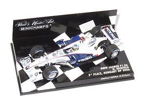 【送料無料】模型車 スポーツカー ザウバーハンガリーグランプリハイドフェルド143 bmw sauber f106  hungary gp 2006  1st podium nheidfeld