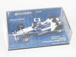 【送料無料】模型車 スポーツカー ウィリアムズモントーヤシーズン143 williams f1 bmw fw23 1st win edition jpmontoya  2001 season