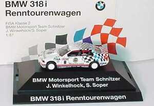 【送料無料】模型車 スポーツカー 187 bmw 3er318i e36 fisa2renntourenwagen 1993シュニッツァー